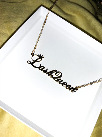 Lash Queen 👑 Nameplate Necklace