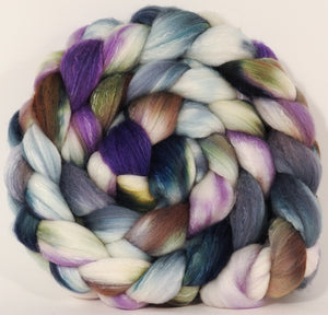 RESERVED for KnittingSpinner- Hand dyed top for spinning -Oysters- (5.2 oz.x2) Organic Polwarth / Tussah silk (80/20)