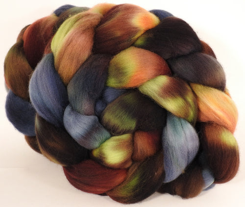 Hand dyed top for spinning - The Walrus - Organic Polwarth
