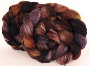 RESERVED for jkld11- Batt in a Braid #39-The Walrus -(5.1 oz.) Falkland Merino/ Mulberry Silk / Sari Silk (50/25/25) - Inglenook Fibers