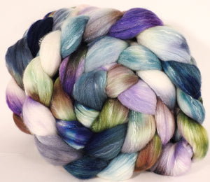 RESERVED for bluewillow - Hand dyed top for spinning -Oysters- (5.2 oz.x2) Organic Polwarth / Tussah silk (80/20)