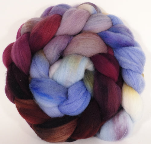 Hand dyed top for spinning - Provence - (5 oz.) Organic Polwarth