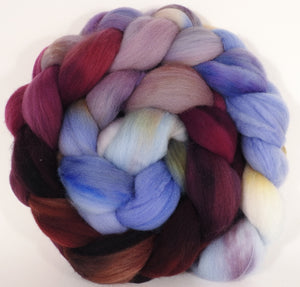 Hand dyed top for spinning - Provence - (5 oz.) Organic Polwarth - Inglenook Fibers
