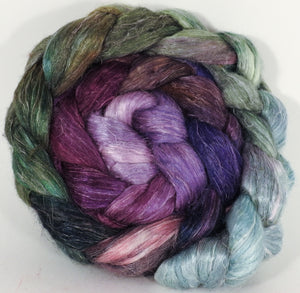 Tussah Silk / flax roving (65/35)- Cabbages & Kings - 5.8 oz. - Inglenook Fibers