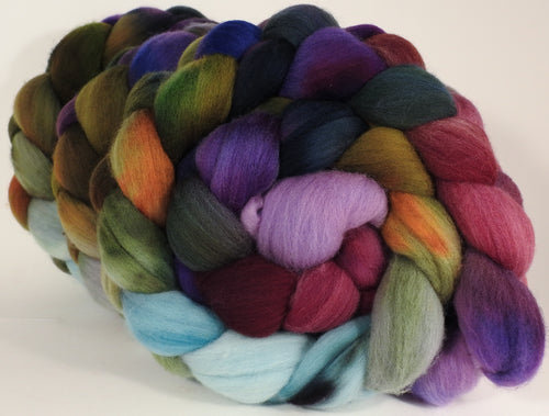 Hand dyed top for spinning - Cabbages & Kings - Organic polwarth