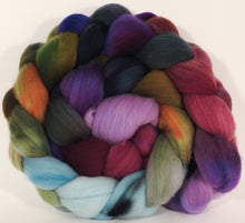 Hand dyed top for spinning - Cabbages & Kings - Organic polwarth - Inglenook Fibers