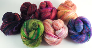 Tulips - Sticklebatts - 30% Bond fleece,Superfine merino, Rambouillet , silk, bamboo, silk noil, angelina