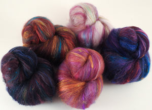 Sock Batts - Rosy Outlook - (4 oz.) - Inglenook Fibers