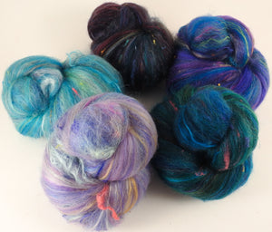 Sock Batts - Cote d'Azur - (4.2 oz.) - Inglenook Fibers