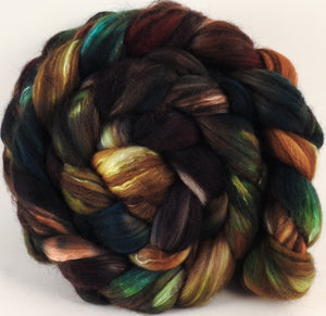 RESERVED for BlueWillow - Hand dyed top for spinning - Trilobite - (5.1 oz) 18.5 mic merino/ camel/ brown alpaca/ mulberry silk/ (40/20/20/20)