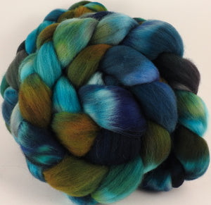 Hand dyed top for spinning - Kraken - Organic Polwarth