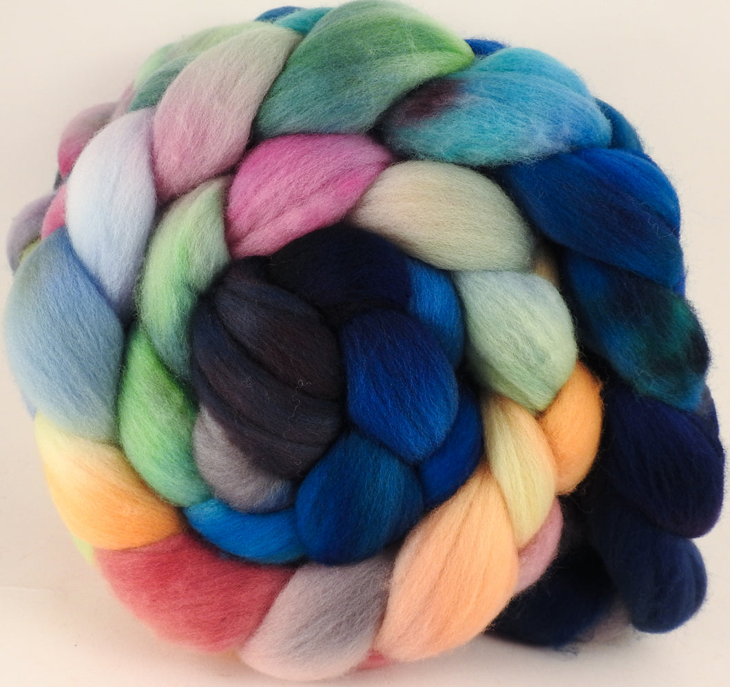 Hand dyed top for spinning -Sea Chariot- (5.2 oz.) Organic Polwarth - Inglenook Fibers