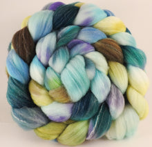 RESERVED for Taraflea - Hand dyed top for spinning - Scent of Water - (5.4 oz.) Targhee/silk/ bamboo ( 80/10/10) - Inglenook Fibers