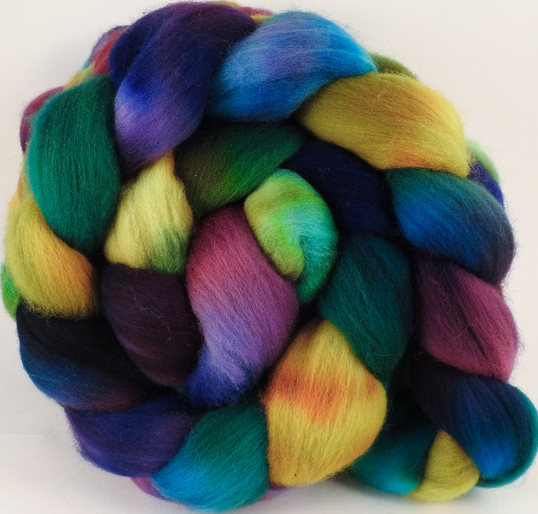 Hand dyed top for spinning - Rapunzel - (5 oz.) Organic Polwarth - Inglenook Fibers