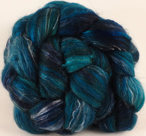RESERVED for Boffoanne- Batt in a Braid #31- Maelstrom - ( 5.2 oz x 2 ) - Inglenook Fibers