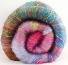 Beach Roses (3.8 oz.)- Roly-Poly Batts- 30% Nash Island fleece, merino, silk, polwarth, bamboo, silk noil, angelina