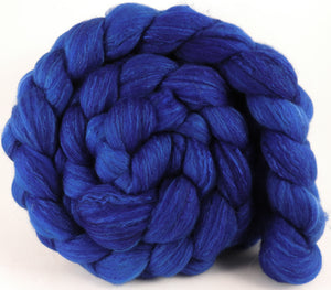 Hand dyed top for spinning - Scilla - (5.4 oz) Organic Polwarth / Tussah silk (80/20) - Inglenook Fibers