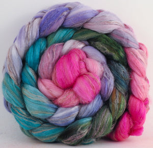 Beach Roses - Merino/ Tussah Silk/ Natural Flax (50/25/25) - 5.2 oz.