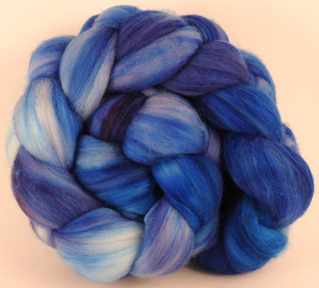 Batt in a Braid #35 - Forget-Me-Not - (5.1 oz.)  Sw Merino (18.5 mic) /Merino (18.5 mic) / Tussah Silk (40/40/20) - Inglenook Fibers