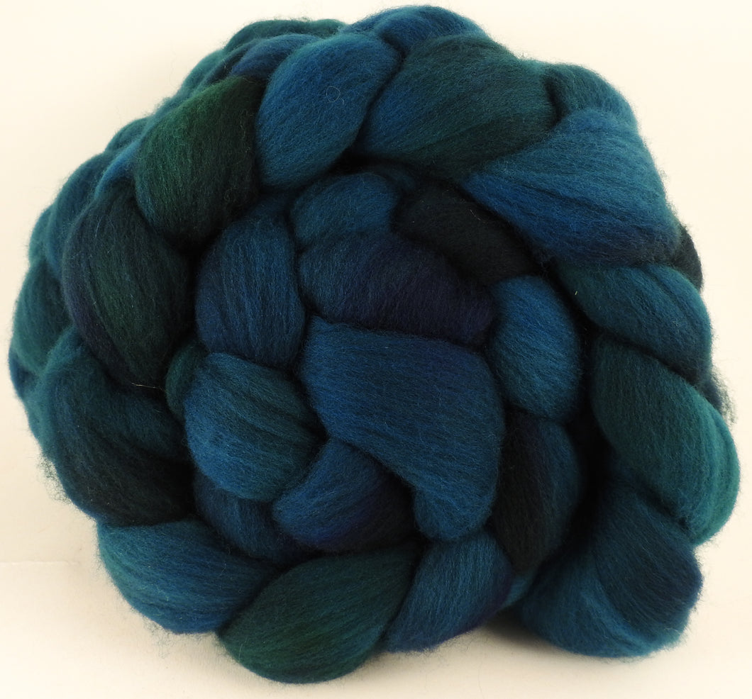 Hand dyed top for spinning -Maelstrom- (5.4 oz.) Organic Polwarth