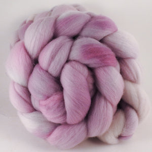 Hand dyed top for spinning -Ballerina- (5.1 oz.) Organic Polwarth