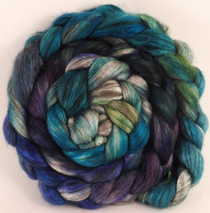 Hand dyed yak/ mulberry silk top - Aruba (4.1 oz.) - YAK /silk (50/50) - Inglenook Fibers
