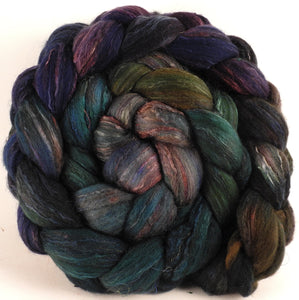 Batt in a Braid #39 - Aruba (5.2 oz) - Falkland Merino/ Mulberry Silk / Sari Silk (50/25/25)