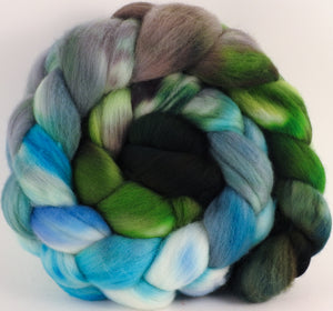 Hand dyed top for spinning - Iseran - Organic polwarth - Inglenook Fibers