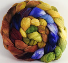 Hand dyed top for spinning - Toulouse - Organic Polwarth / Tussah silk (80/20)