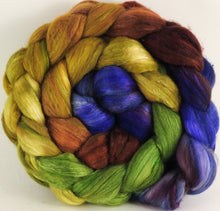Batt in a Braid #5 - Toulouse -(5.2 oz.) Merino/ Camel/ silk/ faux cashmere/ firestar (25/25/25/12/12) - Inglenook Fibers