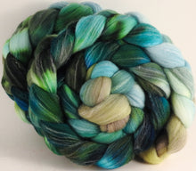 Hand dyed top for spinning - Aventurine - (5.3 oz.) Targhee/silk/ bamboo (80/10/10)