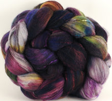 Batt in a Braid #30- Enigma (5.3 oz.) - Charollais/ Rambouillet / Black tussah /Mulberry silk (40/40/10/10)