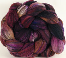 Batt in a Braid #30- Purple Prize (5.3 oz.) - Charollais/ Rambouillet / Black tussah /Mulberry silk (40/40/10/10) - Inglenook Fibers