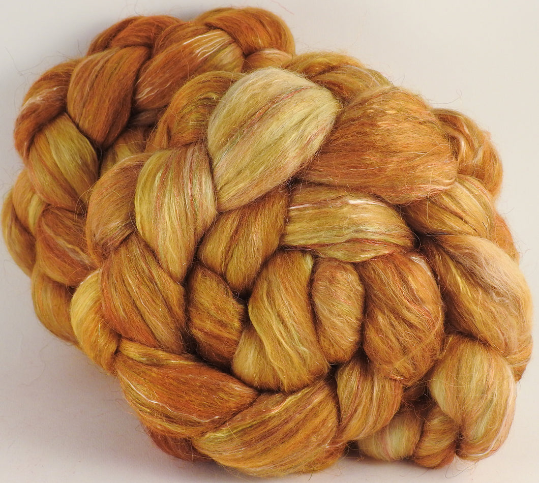 Batt in a Braid #31- Honeycomb - Polwarth/ Mulberry Silk / Baby Alpaca / Rainbow Firestar/ Tencel( 40/25/15/10/10) - Inglenook Fibers