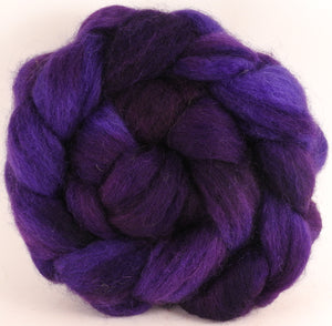 Batt in a Braid #43 -Damson Plum (5.3 oz.) - Dorset/Cheviot/Kid Mohair (60/20/20) - Inglenook Fibers
