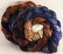 Hand-dyed wensleydale/ mulberry silk roving (65/35) - Kestrel - (5.2 oz.) - Inglenook Fibers