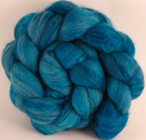 Batt in a Braid #44- Poseidon (5.3 oz) - Southdown/Tussah Silk/Kid Mohair (65/25/10) - Inglenook Fibers