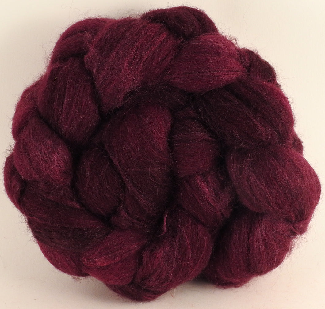Batt in a Braid #44- Black Cherry (5.3 oz) - Southdown/Tussah Silk/Kid Mohair (65/25/10)