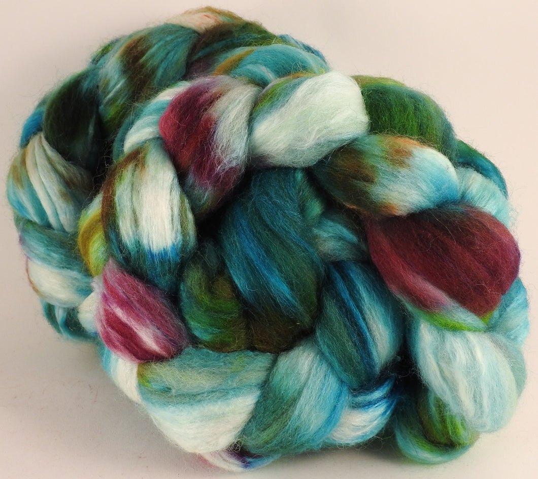 Batt in a Braid #44- Aquarium - Southdown/Tussah Silk/Kid Mohair (65/25/10) - Inglenook Fibers