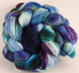 Batt in a Braid #44- Angelfish (5.4 oz) - Southdown/Tussah Silk/Kid Mohair (65/25/10) - Inglenook Fibers