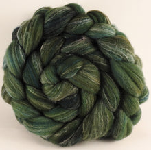 Hand dyed top for spinning -Zucchini - (5.3 oz.) Targhee/silk/ bamboo (80/10/10)