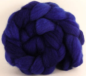 Batt in a Braid #43 - Lapis (5 oz.) - Dorset/Cheviot/Kid Mohair (60/20/20) - Inglenook Fibers