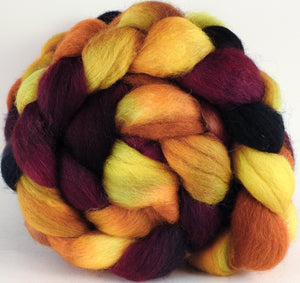 Batt in a Braid #43 - Indian Corn (5.2 oz.) - Dorset/Cheviot/Kid Mohair (60/20/20) - Inglenook Fibers