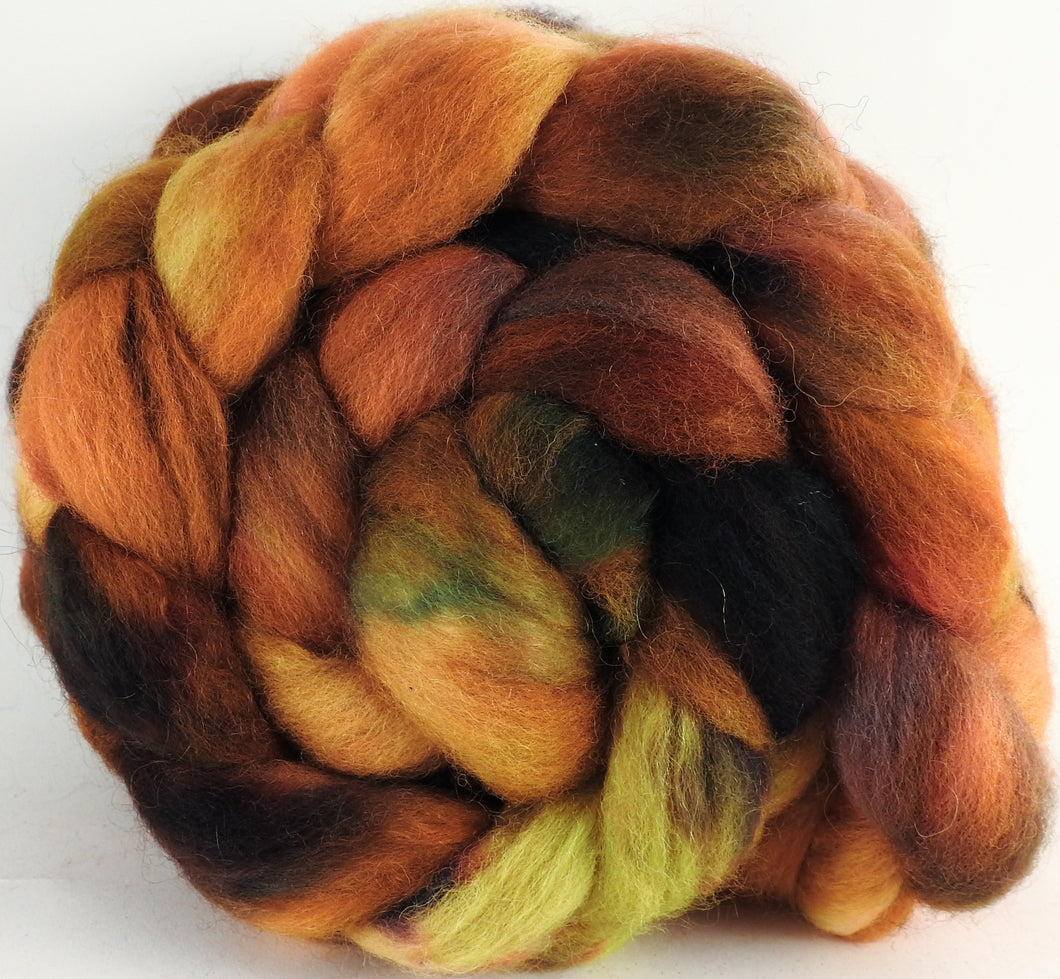 Batt in a Braid #43 - Haze (5.4 oz.) - Dorset/Cheviot/Kid Mohair (60/20/20) - Inglenook Fibers