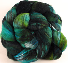 Batt in a Braid #30- Boxwood (5.4 oz.) - Charollais/ Rambouillet / Black tussah /Mulberry silk (40/40/10/10) - Inglenook Fibers