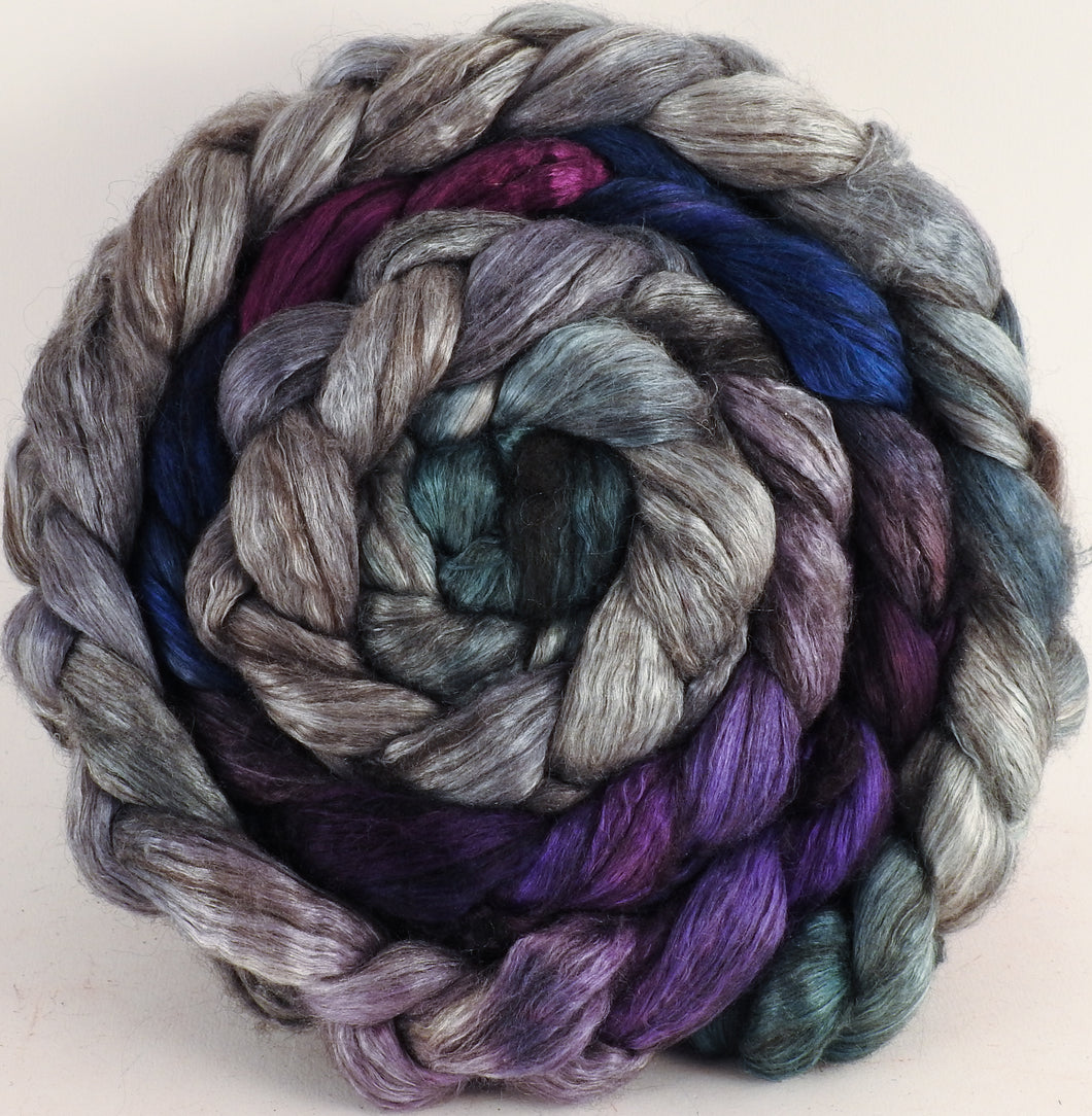Hand dyed yak/ mulberry silk top -Earl grey (5 oz.) - YAK /silk (50/50) - Inglenook Fibers
