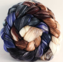 Batt in a Braid #45 - Kestrel (5.3 oz.) - Corriedale/Mulberry Silk/Rose Fiber (60/20/20)