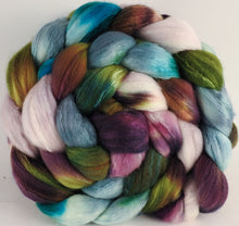 Hand dyed top for spinning - Bramble - (5.3 oz) Organic Polwarth / Tussah silk (80/20) - Inglenook Fibers