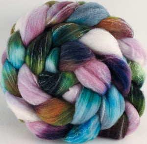 Hand dyed top for spinning - Bramble - (5.4 oz.) Targhee/silk/ bamboo ( 80/10/10) - Inglenook Fibers