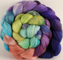 Batt in a Braid #5 - Sea Blooms -(5 oz.) Merino/ Camel/ silk/ faux cashmere/ firestar (25/25/25/12/12) - Inglenook Fibers
